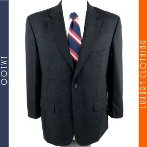 PRONTO UOMO 42R Wool Smokey Gray 2 Button Blazer